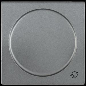 Накладка розетка НР-3-1-БА с заземляющим контактом с крышкой BOLERO антрацит IEK