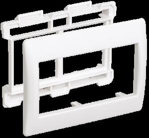 Рамка и суппорт для кабель-канала ПРАЙМЕР на 4 модуля 75мм белые IEK