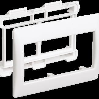Рамка и суппорт для кабель-канала ПРАЙМЕР на 4 модуля 60мм белые IEK