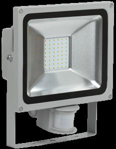 Прожектор светодиодный СДО 05-30Д (детектор) SMD IP44 серый IEK