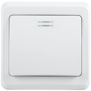 Выключатель 1-клавишный с индикацией ВС10-1-1-ВБ 10А ВЕГА белый IEK