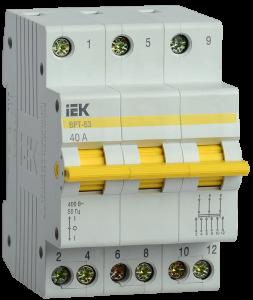 Выключатель-разъединитель трехпозиционный ВРТ-63 3P 40А IEK