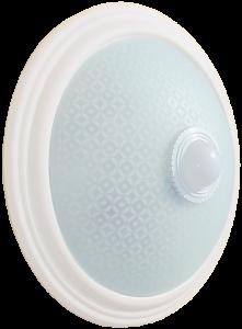 Светильник НПО3234Д 2х25 с датчиком движения белый IEK