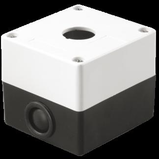 Корпус поста КП101 для кнопок управления 1 место белый IEK
