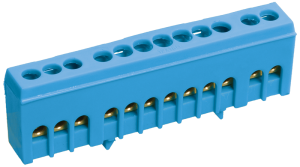 """Шина N """"ноль"""" в корпусном изоляторе на DIN-рейку ШНИ-6х9-12-К-С IEK"""