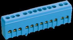 """Шина N """"ноль"""" в корпусном изоляторе на DIN-рейку ШНИ-6х9-8-К-С IEK"""