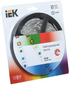 Лента светодиодная 5м блистер LSR-5050RGB30-7,2-IP20-12V IEK