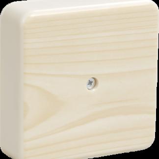 Коробка распаячная КМ41212-03 для о/п 75х75х20мм светлое дерево (6 клемм 6мм2) IEK