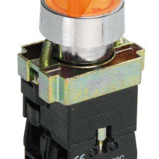 Переключатель LAY5-BK2565 на 2 положения желтый IEK