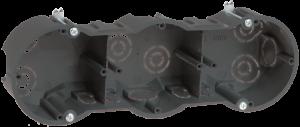 Коробка установочная КМ40009 3-х местная 212х70х45мм для твердых стен (с саморезами) IEK