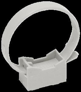 Хомутный держатель со стяжкой CFF2 32-63мм серый IEK