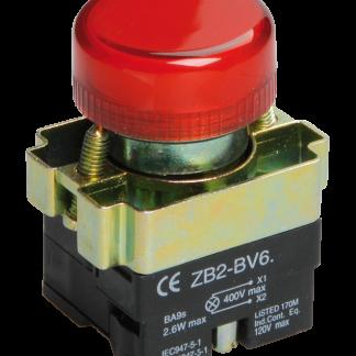 Индикатор LAY5-BU64 d=22мм красный IEK