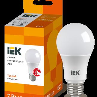 Лампа светодиодная ECO A60 шар 7Вт 230В 3000К E27 IEK