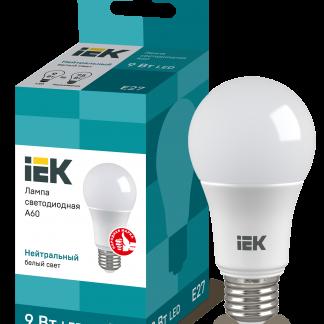 Лампа светодиодная ECO A60 шар 9Вт 230В 4000К E27 IEK