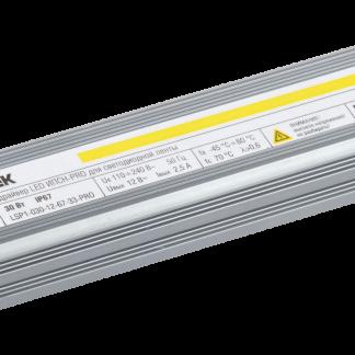 Драйвер LED ИПСН-PRO 30Вт 12В блок-шнуры IP67 IEK