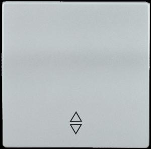 Накладка 1 клавиша для выключателя проходного HB-1-2-БС BOLERO серебряный IEK