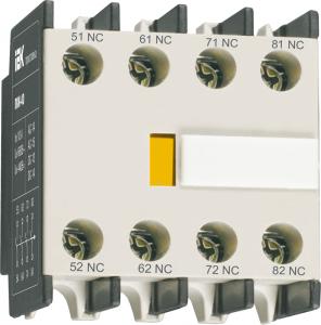 Приставка ПКИ-04 дополнительные контакты 4р IEK