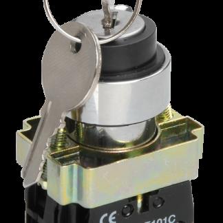 Переключатель LAY5-BG45 на 2 положения с ключом без фиксации IEK