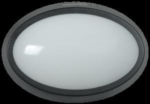 Светильник светодиодный ДПО 5041 12Вт 4000K IP65 овал черный IEK