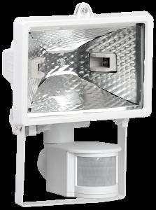 Прожектор галогенный ИО150Д (детектор) IP54 белый IEK