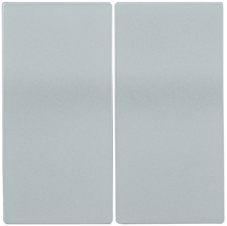 Накладка 2 клавиши HB-2-0-БС BOLERO серебряный IEK
