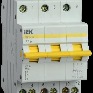 Выключатель-разъединитель трехпозиционный ВРТ-63 3P 32А IEK