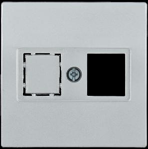 Накладка телефонная НТ12-1-БС RJ12/HDMI BOLERO серебряный IEK