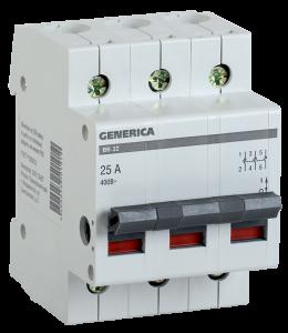 Выключатель нагрузки (мини-рубильник) ВН-32 3Р 32А GENERICA
