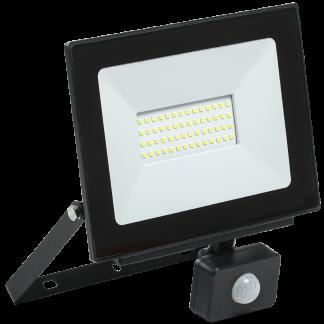 Прожектор светодиодный СДО 06-50Д с датчиком движения IP54 6500K черный IEK