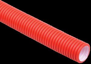 Труба гофрированная двустенная ПНД d=75мм красная (50м) IEK
