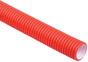 Труба гофрированная двустенная ПНД d=90мм красная (50м) IEK