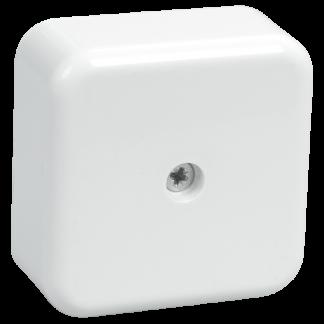 Коробка распаячная КМ41206-01 для о/п 50х50х20мм белая (4 клеммы 3мм2) IEK