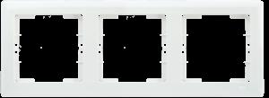 Рамка 3-местная горизонтальная РГ-3-ББ BOLERO белый IEK