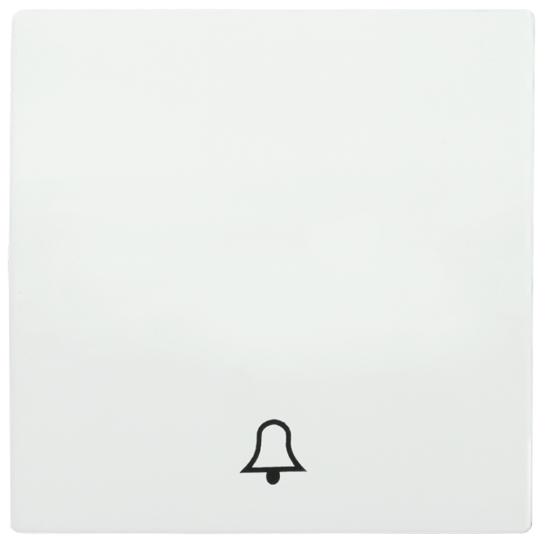 Накладка 1 клавиша для кнопочного звонка HB-1-4-ББ BOLERO белый IEK