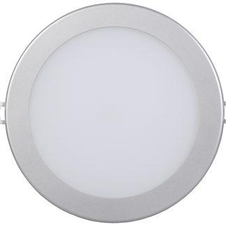 Светильник светодиодный ДВО 1606 круг 12Вт 4000K IP20 серебро IEK