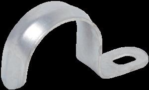 Скоба металлическая однолапковая d25-26мм IEK