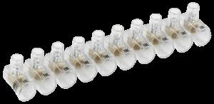 Зажим винтовой концевой изолированный КЗВИ 4,0мм2 (10x1) IEK