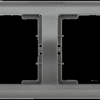 Рамка 2-местная горизонтальная РГ-2-БА BOLERO антрацит IEK