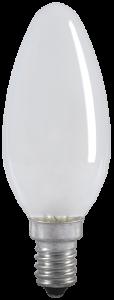 Лампа накаливания C35 свеча матовая 60Вт E14 IEK