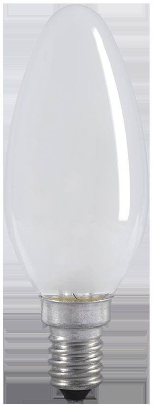 Лампа накаливания C35 свеча матовая 40Вт E14 IEK