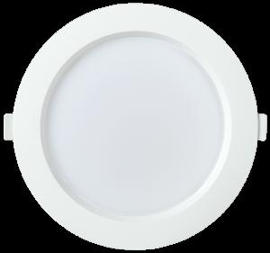 Светильник светодиодный ДВО 1704 круг 24Вт 6500K IP40 белый IEK