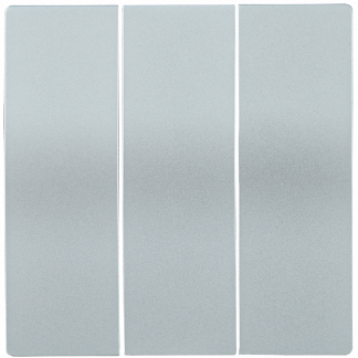 Накладка 3 клавиши HB-3-0-БС BOLERO серебряный IEK