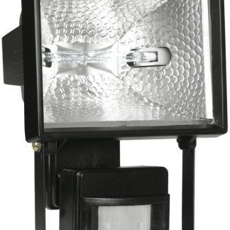 Прожектор галогенный ИО500Д (детектор) IP54 черный IEK