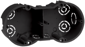 Коробка установочная КМ40007 2-х местная 141x70x45мм для твердых стен (с саморезами) IEK