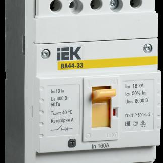 Автоматический выключатель ВА44-33 3Р 100А 15кА IEK