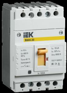 Автоматический выключатель ВА44-33 3Р 160А 15кА IEK