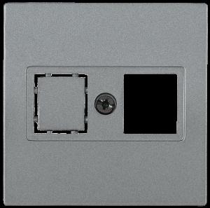 Накладка телефонная НТ12-1-БА RJ12/HDMI BOLERO антрацит IEK