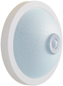 Светильник НПО3236Д 2х25 с датчиком движения белый IEK