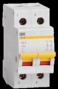 Выключатель нагрузки (мини-рубильник) ВН-32 2Р 20А IEK