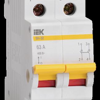 Выключатель нагрузки (мини-рубильник) ВН-32 2Р 63А IEK